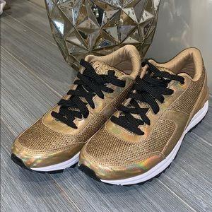 Sam Edelman Golden Sneakers Shoes Size 6.5